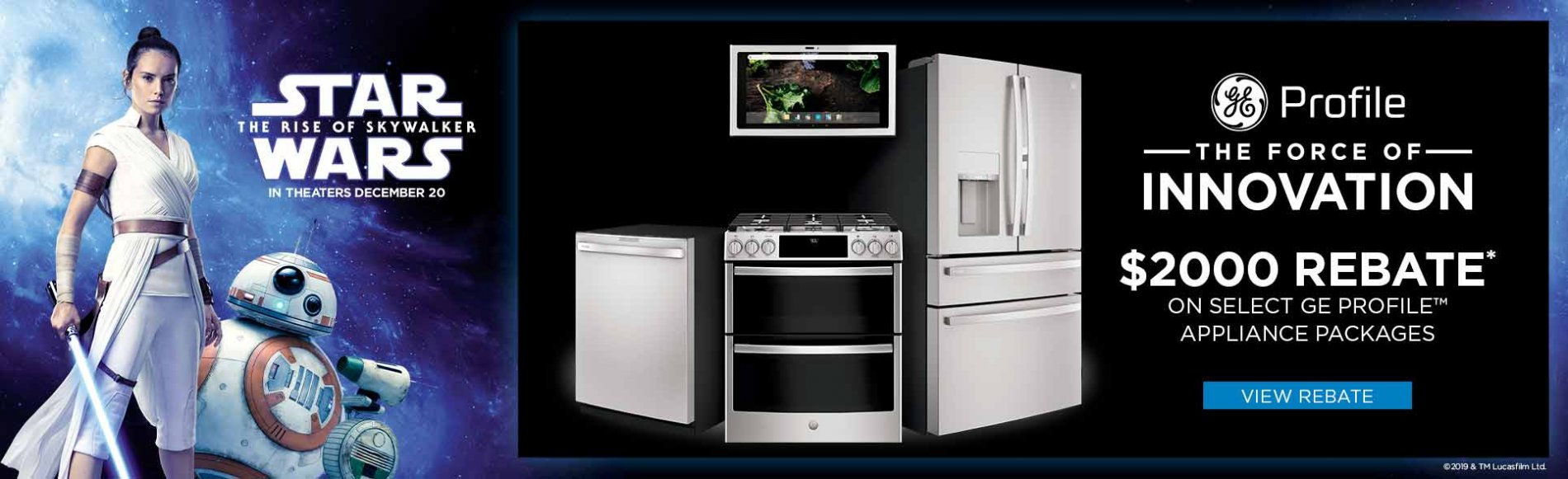 GE Profile the Force of Innovation $2000 Rebate